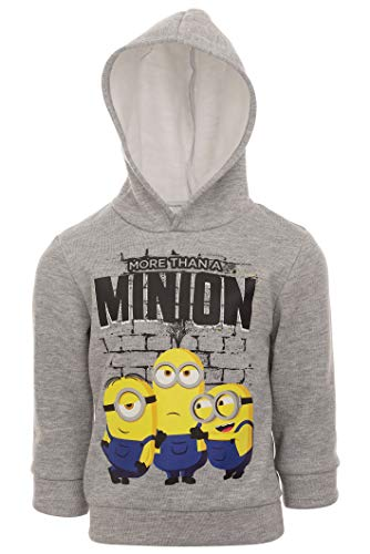 Despicable Me Minions Toddler Boys Fleece Pullover Hoodie Heather Gray 2T