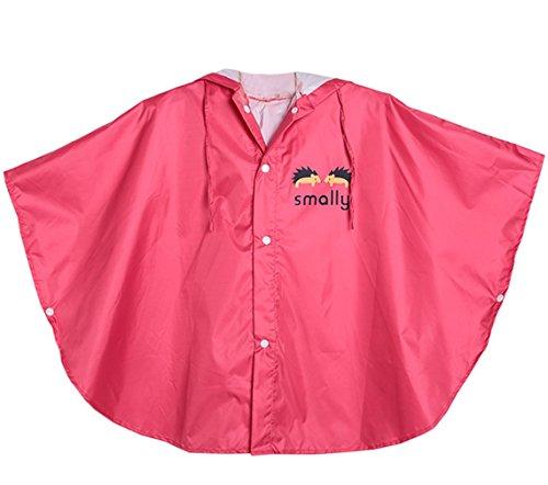 Botetrade Network technology Ltd GudeHome Unisex Kind Regenjacke Mädchen Jungen Mit Kapuze Wasserdichte Regen Poncho, 80-100cm Rot