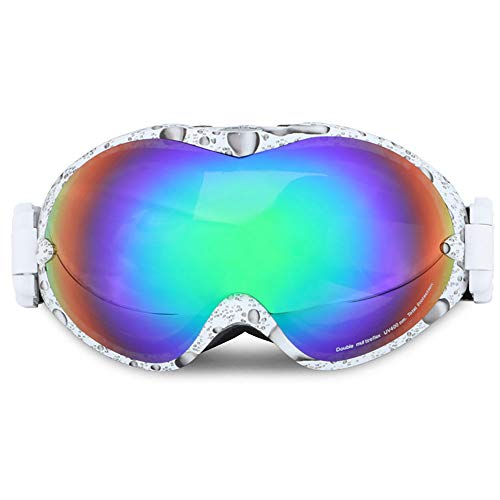 XIANNVV Gafas De Esquí, Gafas De Esquí Al Aire Libre Gafas De Esquí Antivaho De Doble Capa Gafas De MontañIsmo para Hombres Y Mujeres