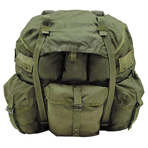 MFH Original US Rucksack Alice Pack Large mit Metallgestell Backpack Daypack Kampfrucksack (Oliv)
