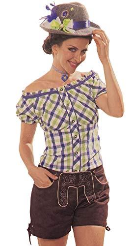 Preisvergleich Produktbild Herneland Orlob Leder Trachtenhose Damen Lederhose Karneval Fasching Oktoberfest Hose Trachtenlederhose für Trachten GR 34 36 38 40 42 44 (40)