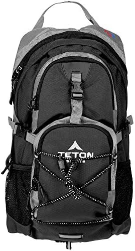 TETON Sports Oasis 1100 Hydration Pack; Free 2-Liter Hydration Bladder; For Backpacking, Hiking, Running, Cycling, and Climbing; Black