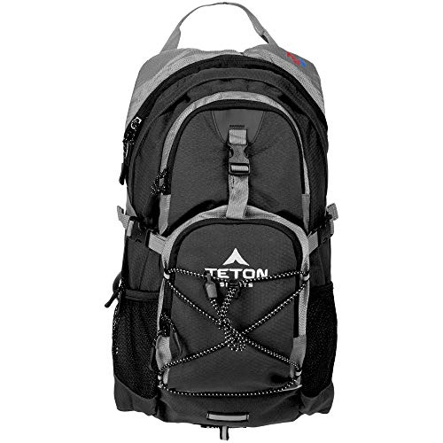 "TETON Sports Oasis 1100 Hydration Pack; Free 2-Liter Hydration Bladder; For Backpacking, Hiking, Running, Cycling, and Climbing; Black, 18.5"" x 10"" x 7"", Model Number: 1001B"