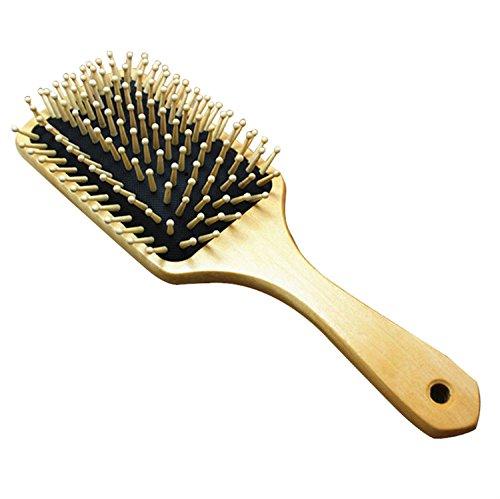25,4 cm Big en bois Brosse à cheveux plate en bois Peigne à cheveux Cheveux Soins Spa Massage Peigne Peigne antistatique