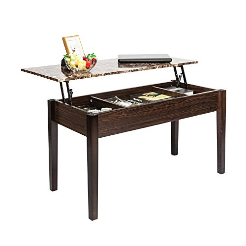 SAILSWORD Lift Top Coffee Table Wood Modern Desk with Hidden Compartment Lift Tabletop Furniture...