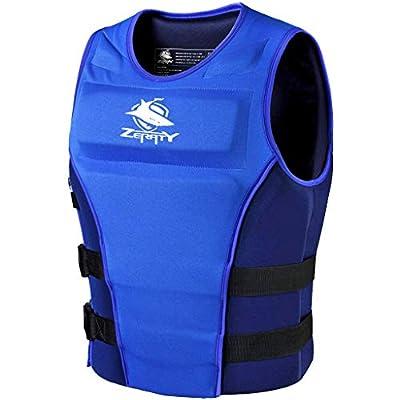 Zeraty Men Life Jacket Impact Vest Buoyancy Swimming Vest Life Jackets for Adult