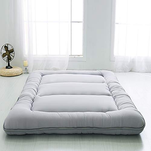 LoveHouse - Tappetino per dormire, pieghevole Futon Tatami materasso morbido spesso giapponese Studente dormitorio materasso Pad-grigio King