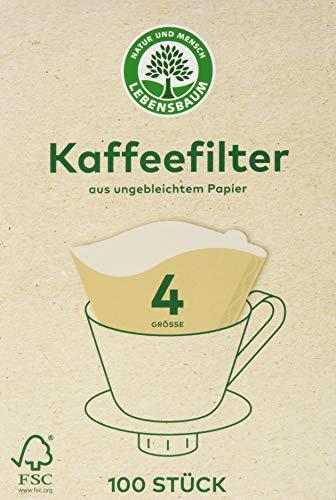 Lebensbaum Kaffeefilter Gr. 4  100 Stck