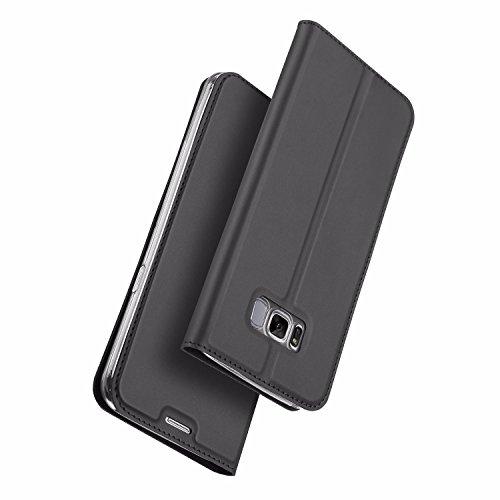 Dux Ducis Graues Slim TPU Booklet kompatibel mit Samsung Galaxy S8