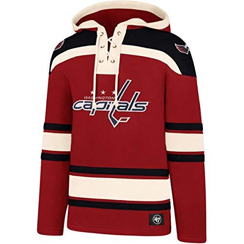 47 Brand NHL Eishockey Hoody Hoodie Kaputzenpullover Sweater Washington Capitals Lacer Jersey Trikot Hooded (X-Large)