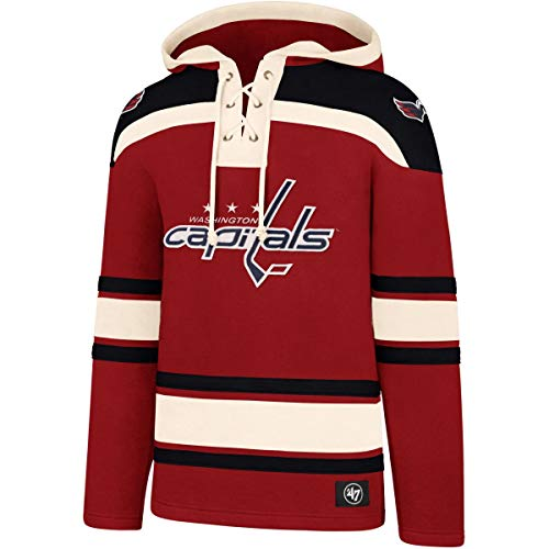 '47 NHL Eishockey Hoody Hoodie Kaputzenpullover Sweater Washington Capitals Lacer Jersey Trikot Hooded (X-Large)