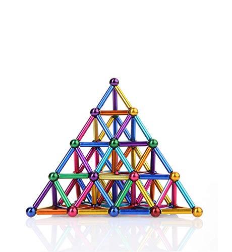 Noxus Bloques de imanes Juguetes de escultura Imán Bloques de construcción Set educativo con 63 unids Puzzle 3D Juguetes de construcción magnéticos para la escuela de oficina educación en el hogar