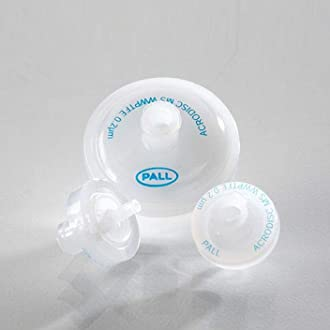 Pall 4524 Acrodisc Syringe Filters with Glass Fiber Pore Size 1 /µm Diameter 37 mm Pack of 15