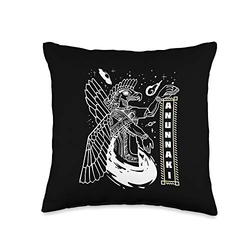 Awesome Ancient Astronauts Shirts & Gifts Anunnaki Sumerian Gift For Ancient Astronaut Theorists Throw Pillow, 16x16, Multicolor