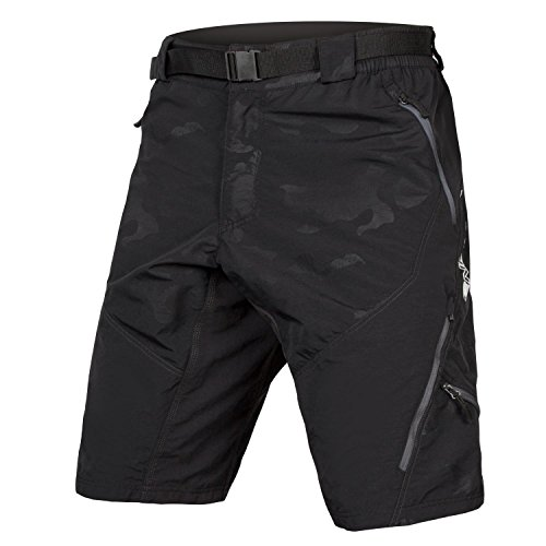 Endura Hummvee Mountain Bike Baggy Cycling Short II with Liner - Black - XX-Large