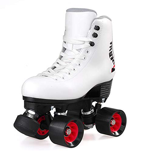 Rollschuhe Mit 4 Rollen Leder Konstruktion, Unisex, Für Kinder Classicroller Rollerskates Rollschuhe Artistic