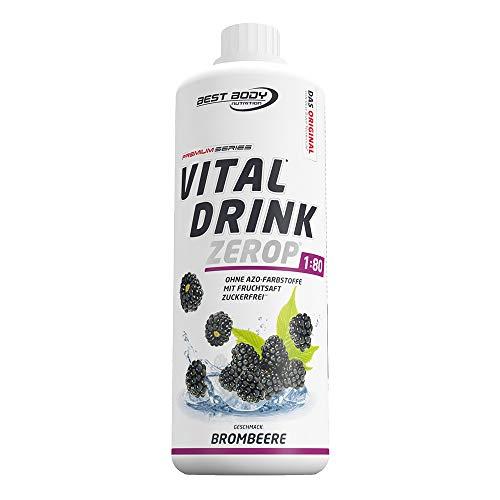 Best Body Nutrition Vital Drink ZEROP - Brombeere, Original Getränkekonzentrat Sirup zuckerfrei, 1:80 ergibt 80 Liter Fertiggetränk, 1000 ml