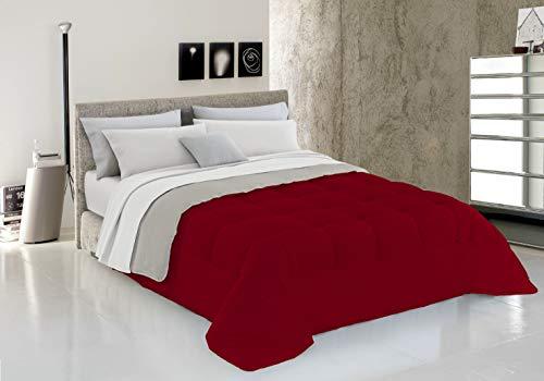 Italian Bed Linen Piumino Invernale, Bordeaux/Panna, 1 Posto, 150 x 200 cm
