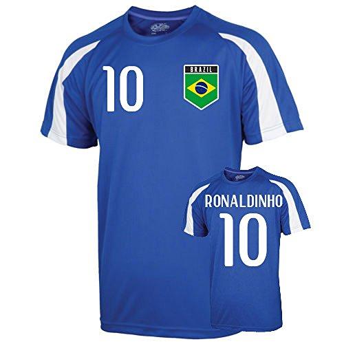 Airosportswear Brazil Sports Training Jersey (Ronaldinho 10)