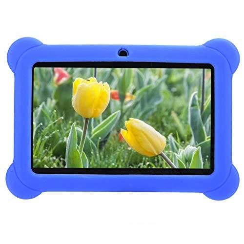 SALUTUYA Tableta para niños de Alta definición de 7 Pulgadas, Tableta de Aprendizaje para niños, Equipo de computadora con Control Parental 1 + 8G Azul 100‑240V(Enchufe Europeo)