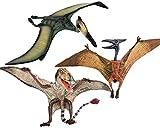 Gemini&Genius 3pcs Pterodactyl Action Figures Realistic Flying Dinosaur Pteranodon Jurassic Dino Toys Pterosaur Model Toys Cake Toppers Set for Kid