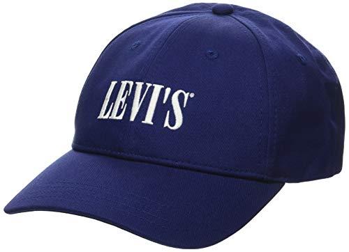 Levi's Unisex Serif Logo Cap OV Ohrenschützer, Blau (Marineblau), OneSize