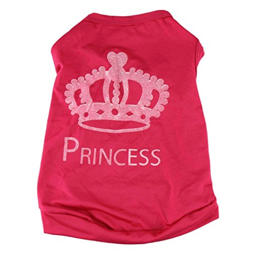 Para mascotas camiseta del chaleco,NUEVA manera linda del gato del perro casero Camiseta de la princesa trajes de perrito Escudo del chaleco del verano (S)