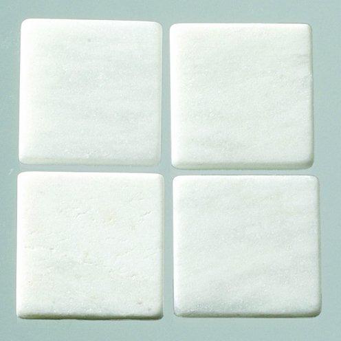 MosaixPro Natursteinmosaikfliesen, 10mm x 10mm x 4mm, weißer Marmor, 200g-Packung mit 205 Stück