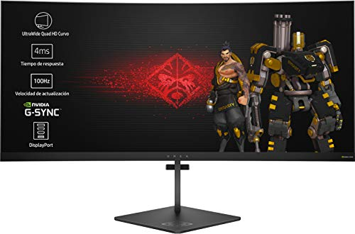 HP OMEN X 35 - Monitor Gaming para PC Desktop G-sync + Altura Ajustable de 88.90 cm (35 pulgadas, 300 cd/m², 3440 x 1440...