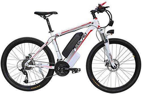 RDJM Bicicleta eléctrica Asistida eléctrica de la Bicicleta de montaña de Iones de Litio de la Bici Adulta del Viajero Aptitud 48V de Gran Capacidad de la batería de Coche (Color : B)