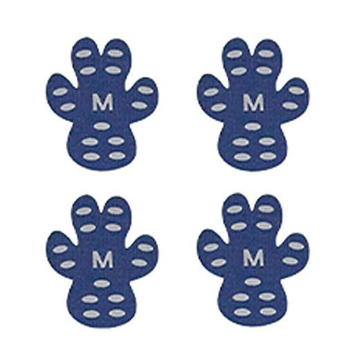 DaMohony Protector de Pata de Perro Pegatinas de Pata de Perro a Prueba de Agua a Prueba de Desgaste Almohadillas de Tracción Duraderas Zapatos de Perro Desechables Botines Calcetines