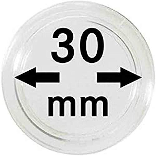 Lindner Münzkapseln für Münzen Ø 14 - 50 mm. Zur Wahl per 1, 5, 10, 100 Stück (30 mm - per 10)