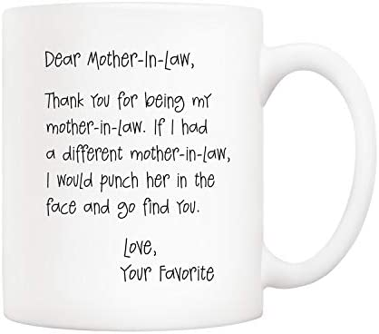 5Aup Funny Mothers Day Gifts for Mother In Law Dear Mother In Law Thank You for Being My Mother product image