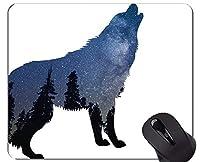 マウスパッド滑り止め、オオカミと月マウスパッドマット