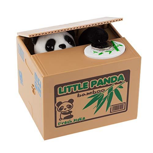 Panda ladrón del Gato Cajas de Dinero de Juguete Huchas Regalo Niños Dinero Cajas automática robó la Caja de Moneda Hucha para Ahorrar Dinero Hucha Estilo al Azar