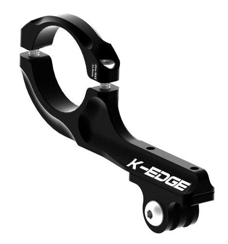K-EDGE Go-Big mounts - Pro Handlebar- bici, VTT moto supporto manubrio/tubo pour caméra GOPRO - colore nero