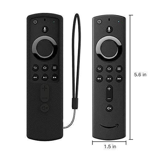 SIKAI Fernbedienung Schutzhülle kompatibel mit FireTVStick4K Ultra HD Alexa-Sprachfernbedienung Stoßfestes Silikon Haut Schutzhülle Lightweight Shockproof Shell (Schwarz)