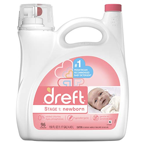 Dreft Dreft Stage 1: Newborn Liquid Detergent, 96 Loads, 150 Fl Oz