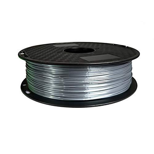 QWLHZW Tongguo. 1,75mm Seide PLA-Filament 250g glänzendes metallartiges 0,25 kg schwarz rot usw. 19 Farben Seide 3D Druckerfilament für DIY Grafikdruck (Color : 05 Silver 250g)