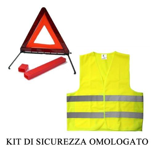 Kit SOS Emergenza Triangolo di Emergenza + Giubbotto Catarifrangente