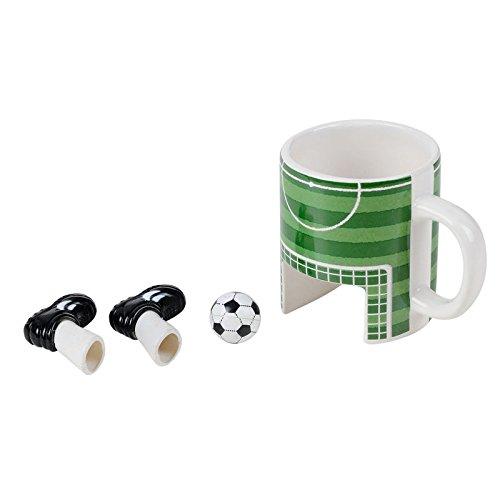 Fußball Tasse mit Finger-Fußballset - Fussball Tasse Kaffeetasse Ball Becher
