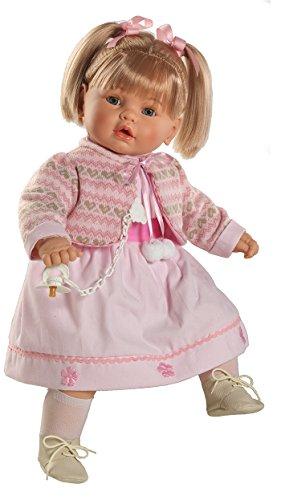 Berbesa - Baby dulzona llorona, muñeca con Vestido Rosa (80261)