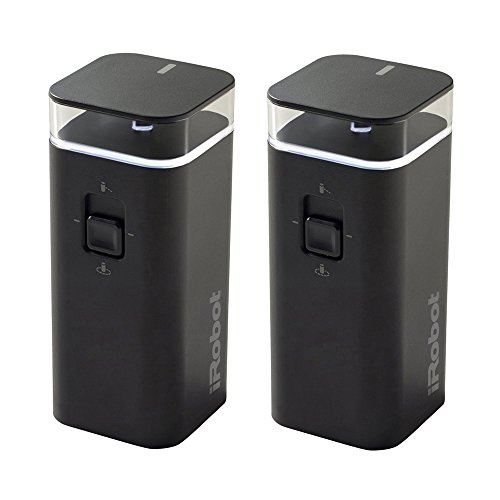 iRobot Authentic Parts Dual Mode Virtual Wall Barrier Compatible with Roomba 600/700/800/900/e/i/s Series Robots (2 Pack)