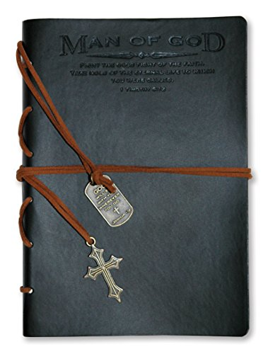 Divinity Boutique Journal, Man of God with Black Cross Charm (22880)