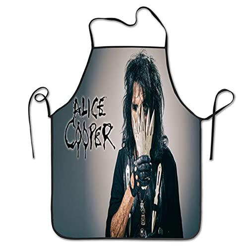 Alice Cooper - Delantal unisex para cocinar, cocinar, hornear y hornear