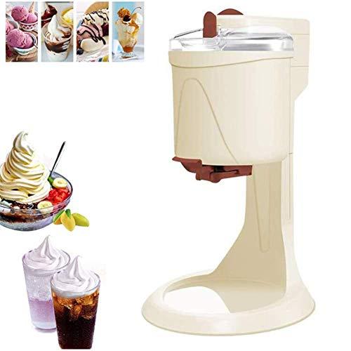 BECCYYLY Helado automático Sorbet Maker, 1L Capacidad para el hogar DIY Fruit Hele Cream Machine Fas extraíble, Gelato Helado Cono Yogur wmpa