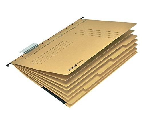 Original Falken Projekthefter und Personalhefter UniReg. Made in Germany. Aus Recycling-Karton für DIN A4 kaufmännische Heftung braun Blauer Engel Personalakte Personalmappe
