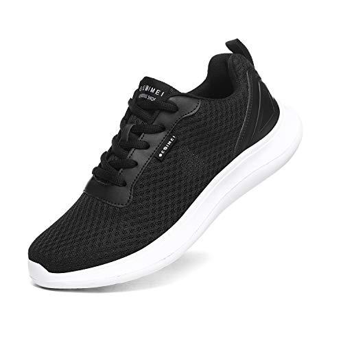 BaiMoJia Zapatillas Deportivas Hombre Zapatos Running Bambas Deporte Ligeras Verano Casual Blanco Negro 45 EU
