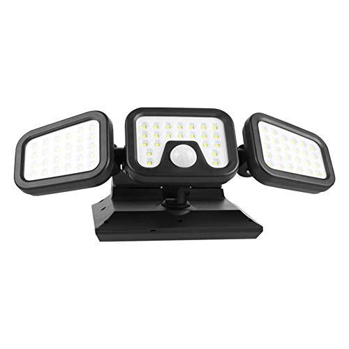 Solar Lights Outdoor, 74LED Inductie Zonne-wandlamp, Verstelbare Multi-hoek IP65 Waterdichte Zonne-beveiligingsverlichting, 3 Verlichtingsmodi Koel Wit
