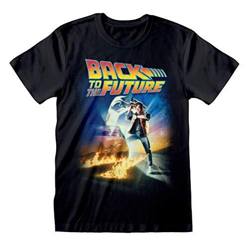 Retro Styler Volver a los Hombres de la impresión del Cartel de la película Futuro Negro Camiseta
